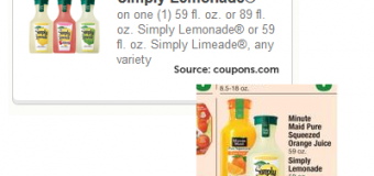 New Simply Lemonade and Limeaid Coupon and Shaw's Matchup