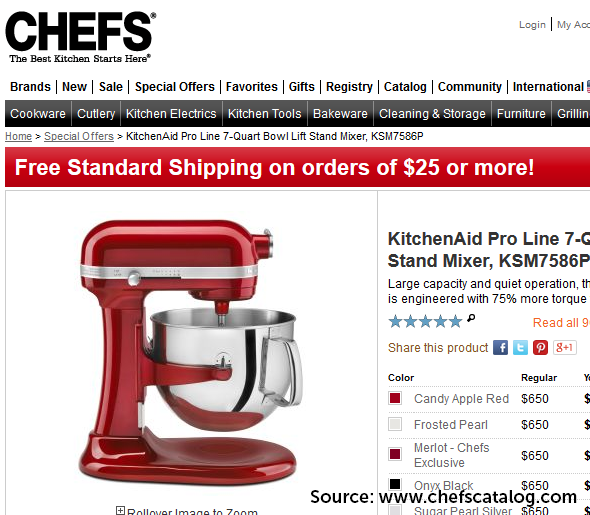Free Gifts From KitchenAid At Chefscatalog.com