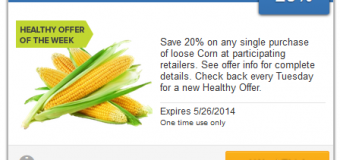 New Healthy Offer from SavingStar – 20% Off Corn