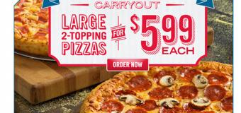 Domino's Carryout Pizza Deal – Large 2-topping for $5.99 each