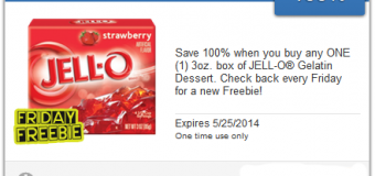 Free Jell-O for Freebie Friday on the SavingStar App