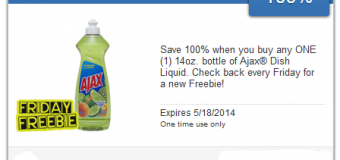 Freebie Friday – SavingStar App Ajax Dish Liquid