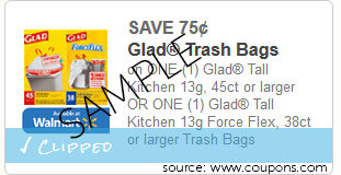 Glad Trash Bags Coupon Plus Sale at Stop & Shop