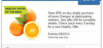Healthy Offer of the Week from SavingStar – 20% Off Oranges