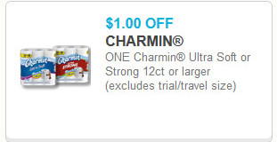 Charmin Ultra Strong Bath Tissue 12 pk for $4.99 at Market Basket